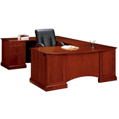 Flexsteel Contract Belmont Executive Desk with 6 Drawers