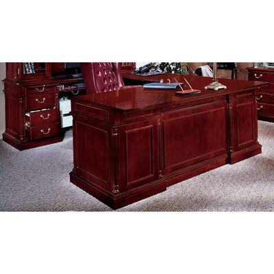 Flexsteel Contract Keswick L-Shape Executive Desk with Center Drawer