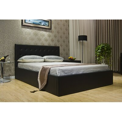 Greatime Upholstered Storage Platform Bed