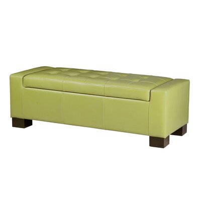 Madison Park Mirage Bench Tufted Top Storage Ottoman