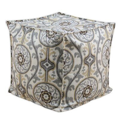 Brite Ideas Living Oh Suzani Metal Square Seamed Beads Ottoman
