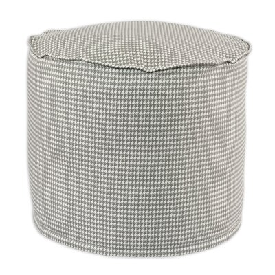 Brite Ideas Living Houndstooth Storm Twill Beads Ottoman