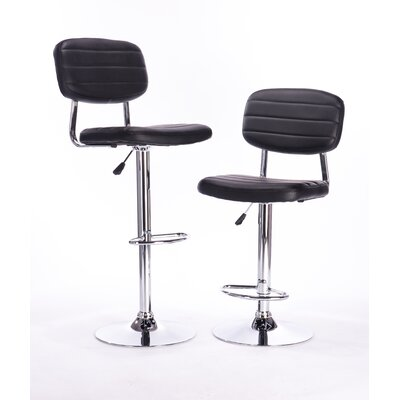 Attraction Design Home Adjustable Height Swivel Bar Stool (Set of 2)