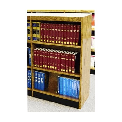 W.C. Heller Single Face Shelf Standard Bookcase