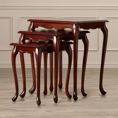 Rosalind Wheeler Abbey 3 Piece Nesting Tables