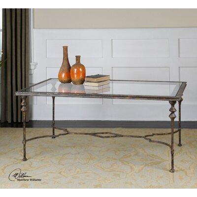 Rosalind Wheeler Feehogue Glass Coffee Table