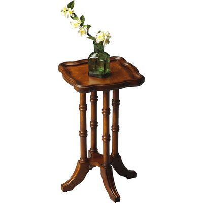 Rosalind Wheeler Chivington Square Scatter End Table in Distressed Olive Ash Burl