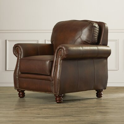 Rosalind Wheeler Mcdonnell Leather Club Chair