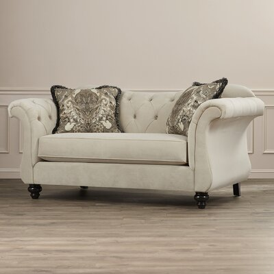 Rosalind Wheeler Balster Premium Tufted Upholstered Loveseat