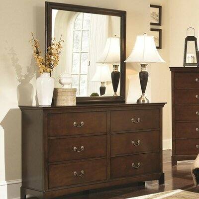 Rosalind Wheeler Akerman 6 Drawer Dresser