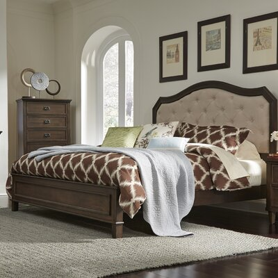 Rosalind Wheeler Upholstered Panel Bed