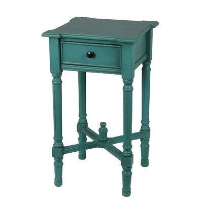 Rosalind Wheeler Baldock 1 Drawer End Table