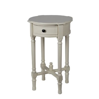 Rosalind Wheeler Baldock 1 Drawer Round End Table