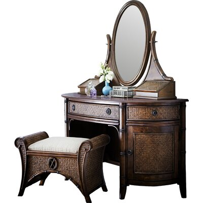 Bay Isle Home Podington Vanity Set with Mirror