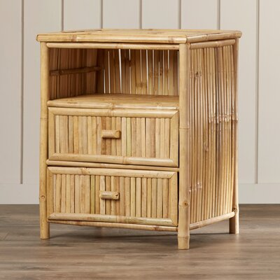 Bay Isle Home Porter Bamboo 2 Drawer Nightstand