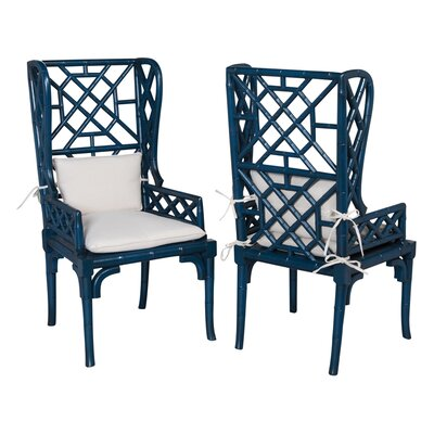 Bay Isle Home Kennedy Wing Back Arm Chair (Set of 2)