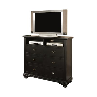 Bay Isle Home Alpinia 6 Drawer Media Chest