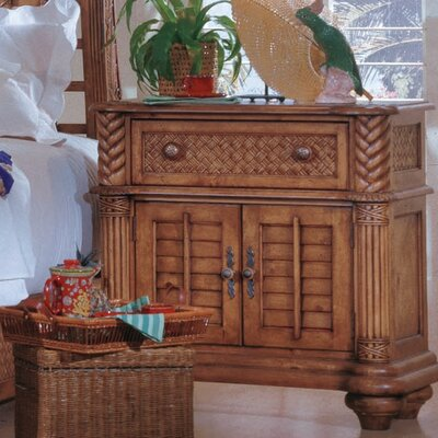 Bay Isle Home Palm Court Paradiso 1 Drawer Nigh..