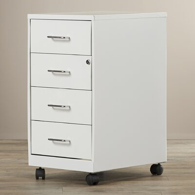Symple Stuff 4 Drawer Steel Mobile File Cabinet