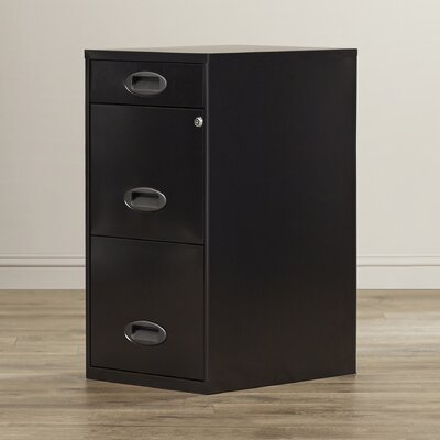 Symple Stuff 3 Drawer Organizer Mobile File Cabinet