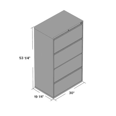 Symple Stuff 4 Drawer Lateral File Cabinet