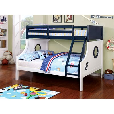 Zoomie Kids Elian Twin over Full Bunk Bed