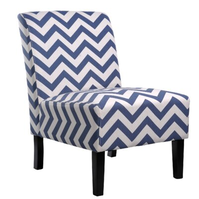 Nathaniel Home Katherine Chevron Slipper Chair