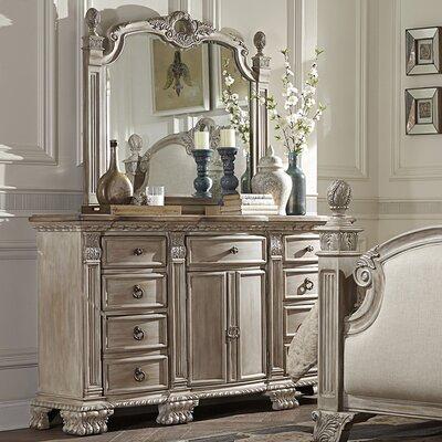 Astoria Grand 9 Drawer Dresser with Mirror