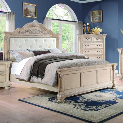 Astoria Grand Clearwell Upholstered Panel Bed