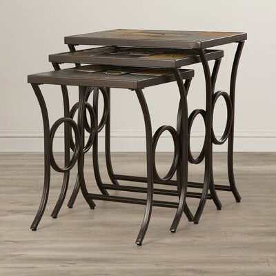 World Menagerie Zamudio 3 Piece Nesting Tables