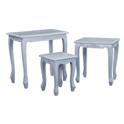 World Menagerie Abdellah 3 Piece Nesting Tables