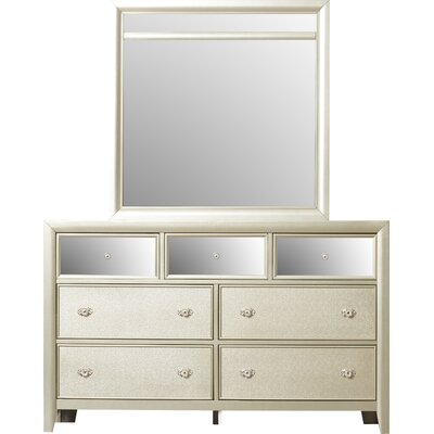 Mercer41 McKellen 7 Drawer Dresser with Mirror