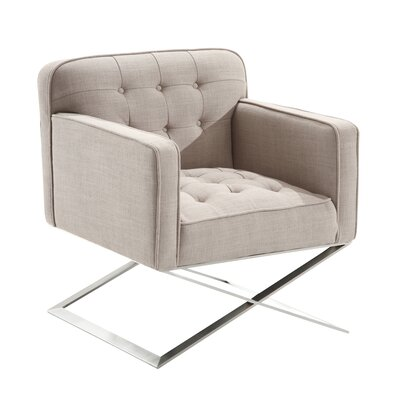 Mercer41 Lynn Harbor Lounge Chair in Gray