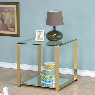 Mercer41 Matthau Metal Frame End Table