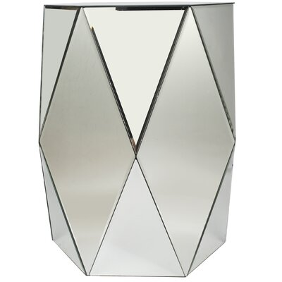 Mercer41 Moretz Geometric Mirrored End Table