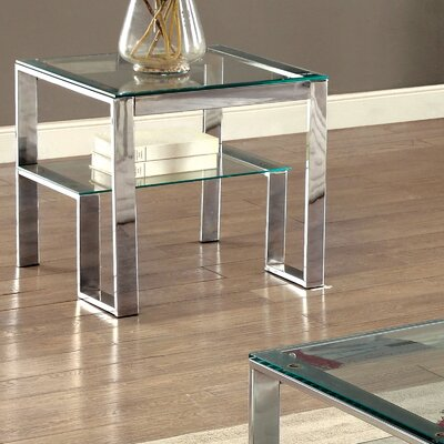 Mercer41 Scheider Stacked Shelf End Table