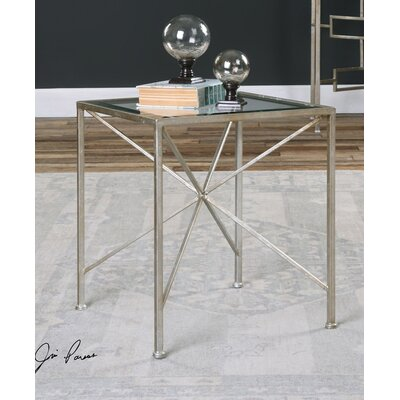 Mercer41 Garten Antiqued End Table