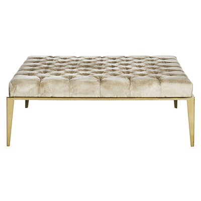 Mercer41 Kirkham Velvet Tufted Cocktail Ottoman