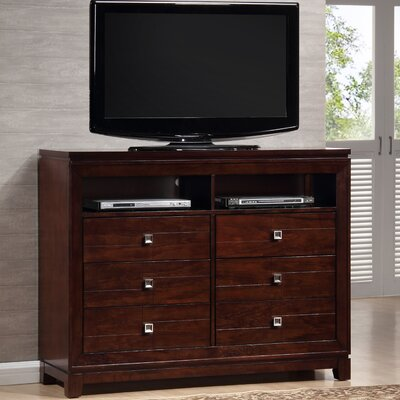 Latitude Run Bethania 6 Drawer Media Dresser