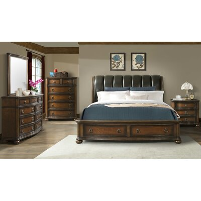 Rosalind Wheeler Reese Storage Sleigh Customizable Bedroom Set
