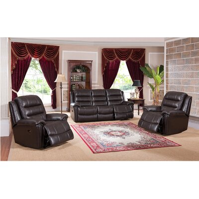Amax Astoria 3 Piece Leather L..