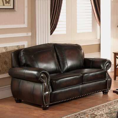 Amax Vail Leather Loveseat