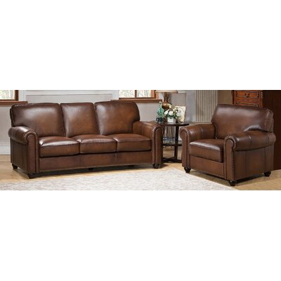 Amax Aspen 2 Piece Leather Living Room Set