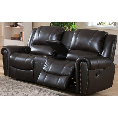 Amax Charlotte Leather Recliner Loveseat