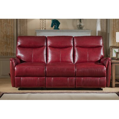 Amax Napa Top Grain Lay Flat Leather Reclining Sofa