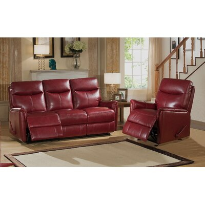 Amax Napa 2 Piece Top Grain Leather Lay Flat Rec..