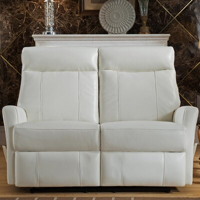 Amax Toledo Leather Reclining Loveseat