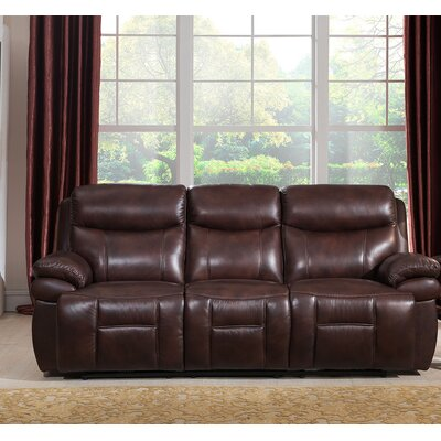 Amax Sanford Leather Reclining Sofa