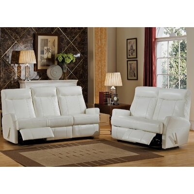 Amax Toledo Leather Sofa and Loveseat Set