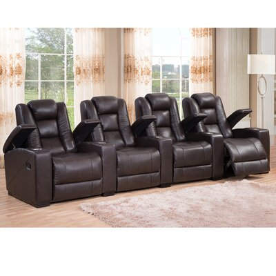 Amax Midway Leather Home Theater Recliner
